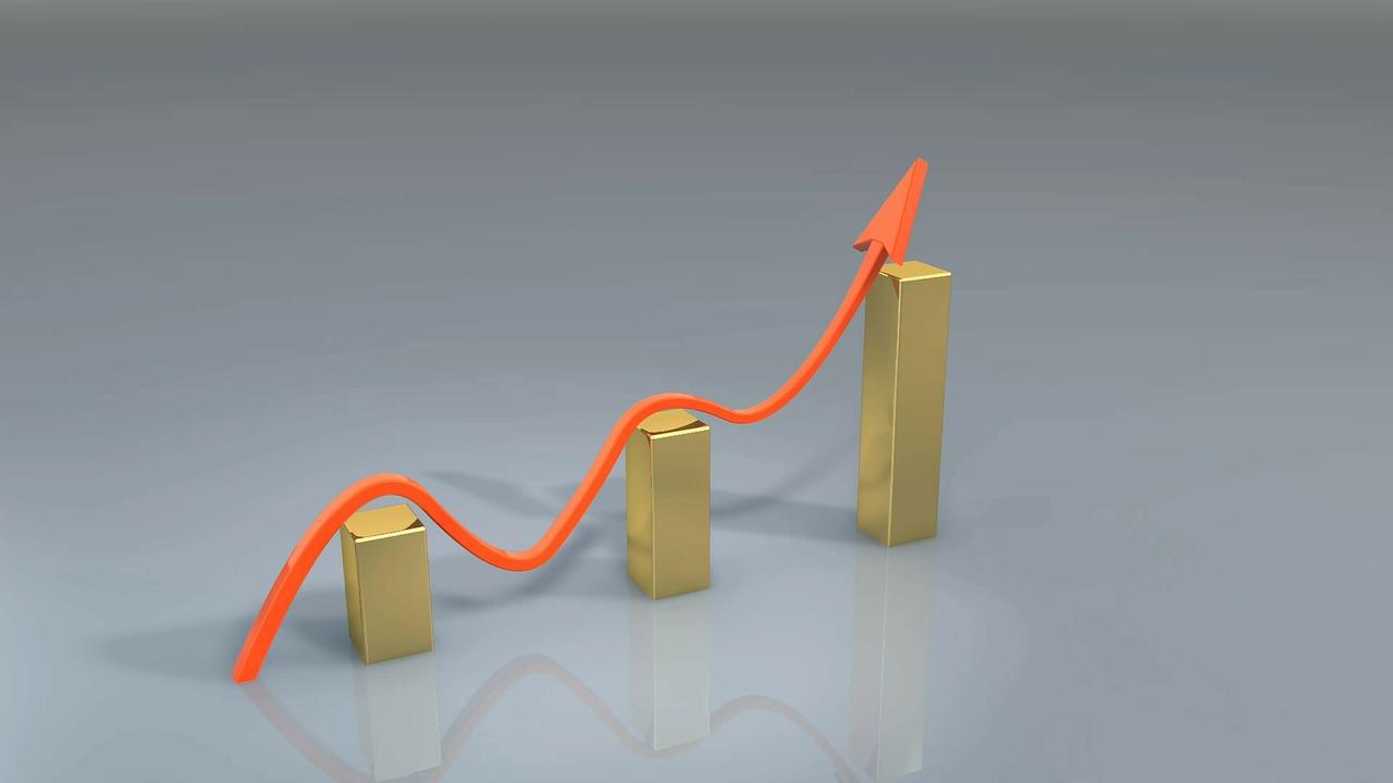 profits increase orange arrow