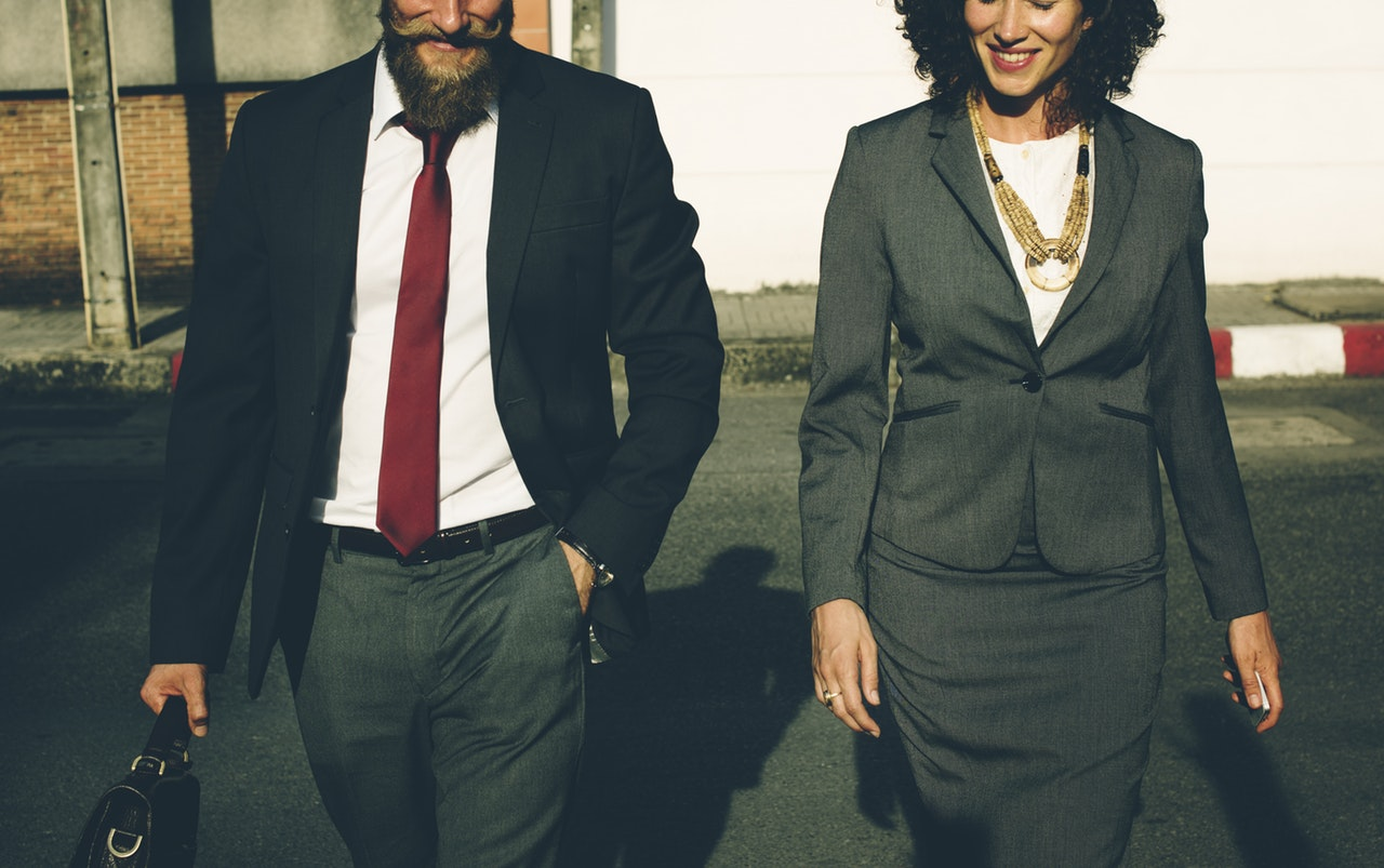 male and female business partners