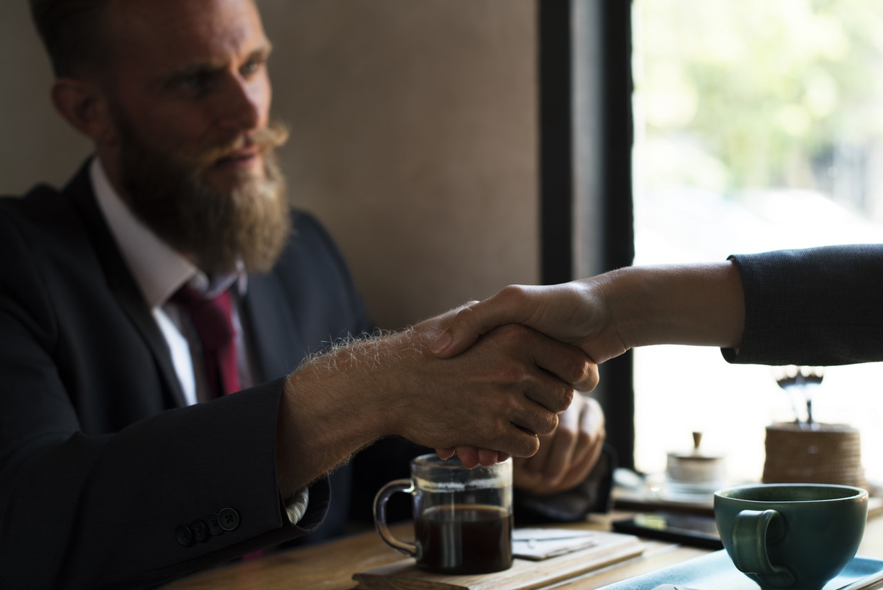 businessman meeting handshake